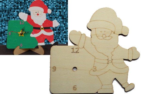 サンタの手づくり時計