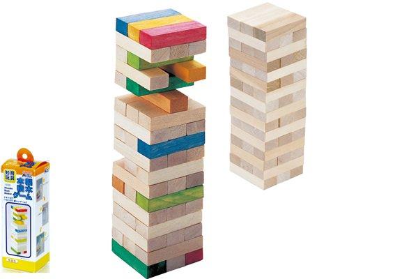 木製積み木パズル作り
