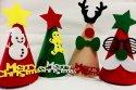 クリスマスの三角フェルト帽子