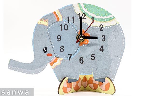 お絵描き時計ゾウさん