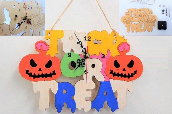 ハロウィン壁掛け時計タイプ