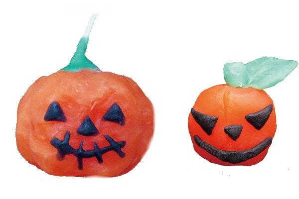 ハロウィンの手作りキャンドル10個セット