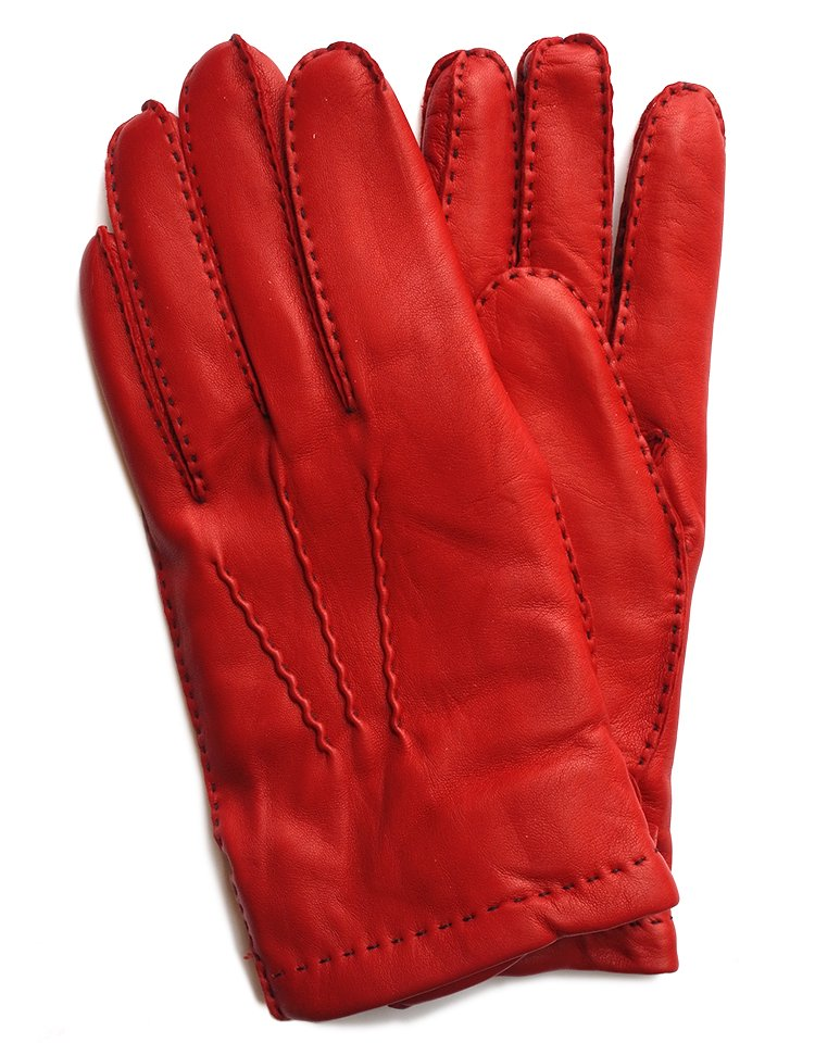 DENTS Hairsheep Leather Glove - Cashmere Lining / Fireball