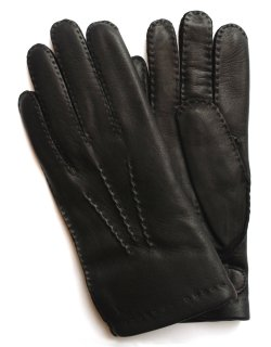 Hairsheep Leather Glove - Cashmere Lining / Black