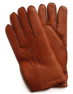 Hairsheep Leather Glove - Cashmere Lining / Highway Tan