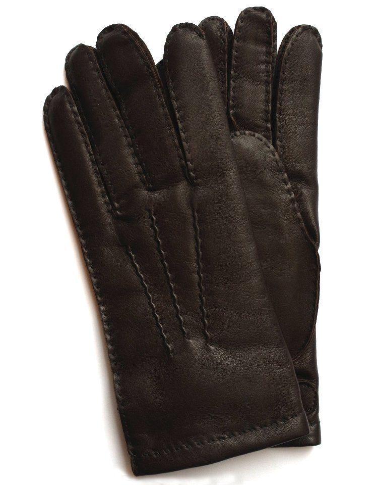 DENTS Hairsheep Leather Glove - Cashmere Lining / Brown