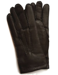 Hairsheep Leather Glove - Cashmere Lining / Brown