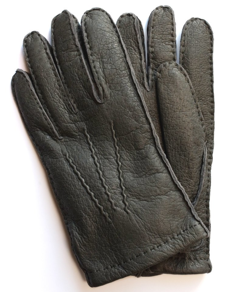 DENTS Peccary Leather Glove - Cashmere Lining / Grey