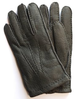 Peccary Leather Glove - Cashmere Lining / Grey