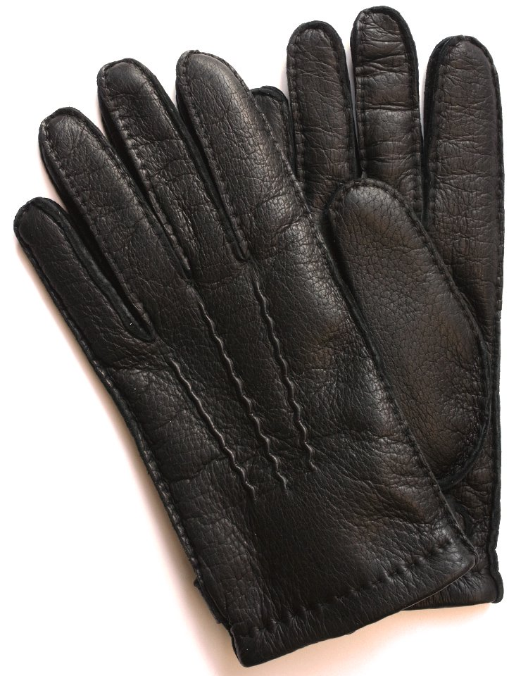 DENTS Peccary Leather Glove - Cashmere Lining / Black