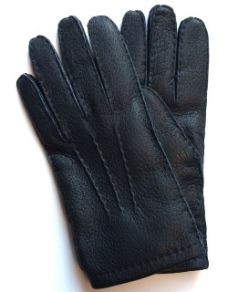 Peccary Leather Glove - Cashmere Lining / Navy