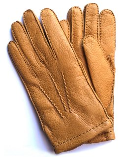Peccary Leather Glove - Cashmere Lining / Cork