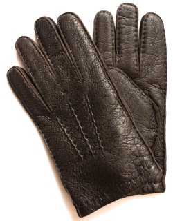 Peccary Leather Glove - Cashmere Lining / Bark