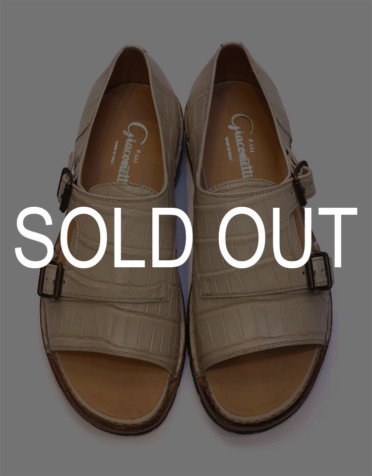 F.LLI Giacometti W-monk Strap Sandal (Norvegese) - ALLIGATOR / FG332