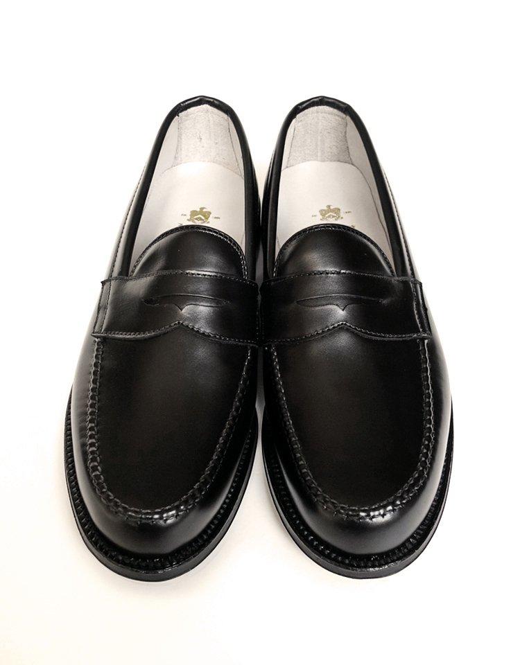 Alden #99267 / Black Calf Penny Loafer - Van Last