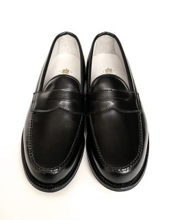 #99267 / Black Calf Penny Loafer - Van Last