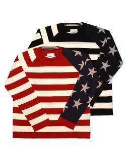 star & stripes sweater. / sk.0001