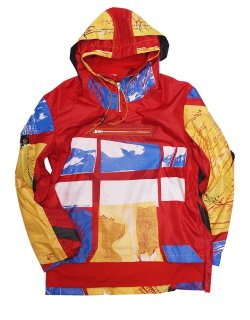 CULRECYCLED RED TENT PULLOVER / 19021