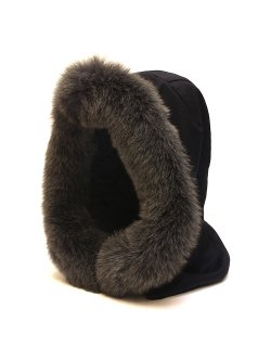 Cashmere Hood Fox-Fur Trim / No.S-192813