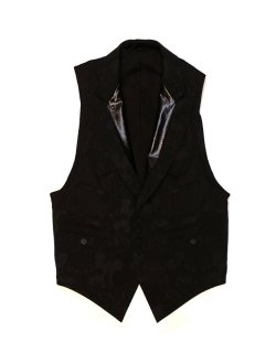 single breasted peaked lapel insideout sleeveless jacket. -duet 5-  / sj.0012a