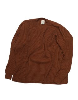 WIDE FIT CREW NECK SWEATER / KNIT#48