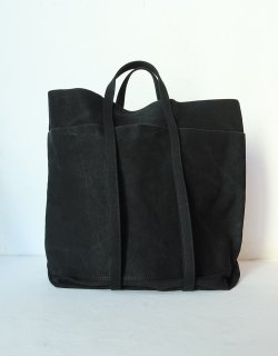 WASHED CANVAS 6POCKETS TOTE [T] / Black