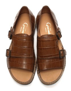 W-monk Strap Sandal - CROCODILE / FG332