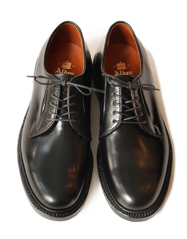 Alden #9901 / Black Cordovan Plain Toe - Barrie Last