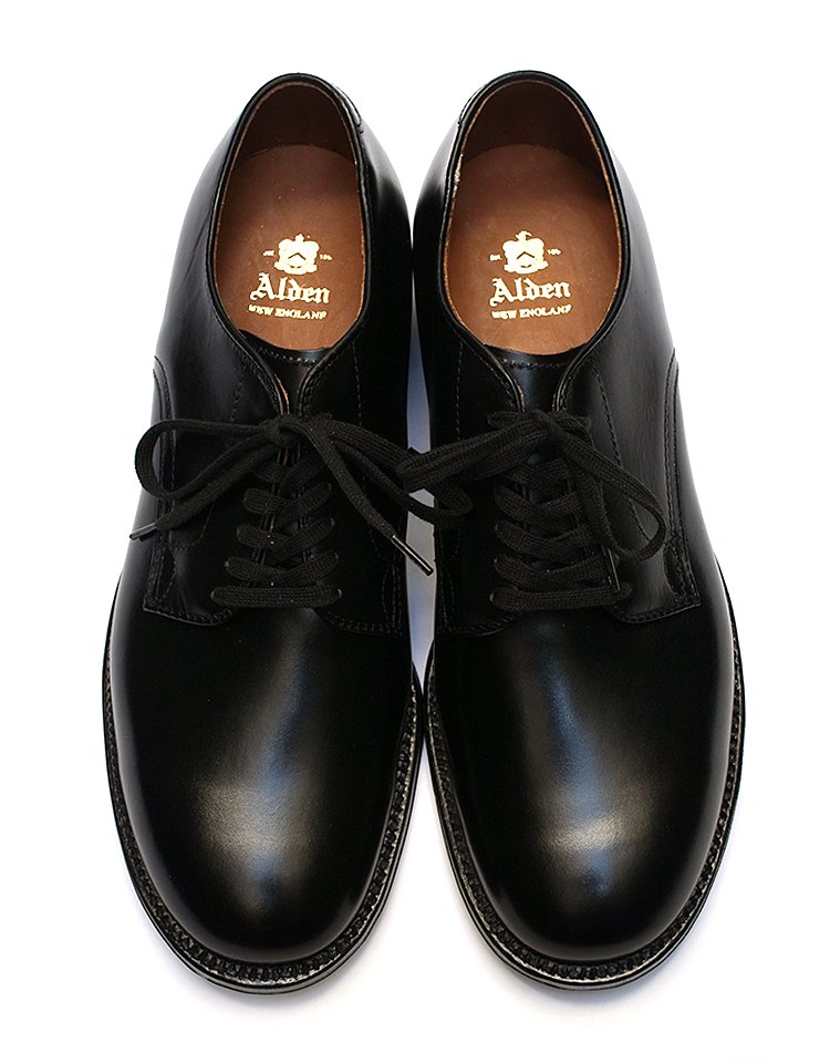 Alden #53711 / Black Calf Plain Toe - Military Last
