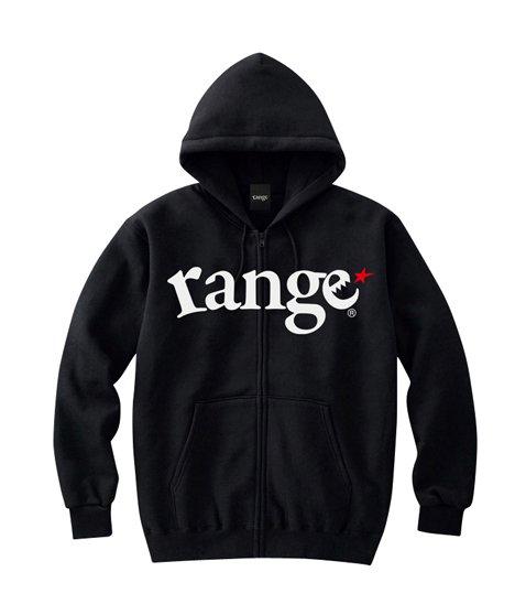 range logo sweat zip hoody
