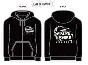 【CAFFEINE BOMB】Skull zip-up hoodie