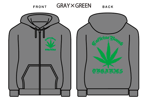 【CAFFEINE BOMB】Organics zip-up hoodie【XXL専用】
