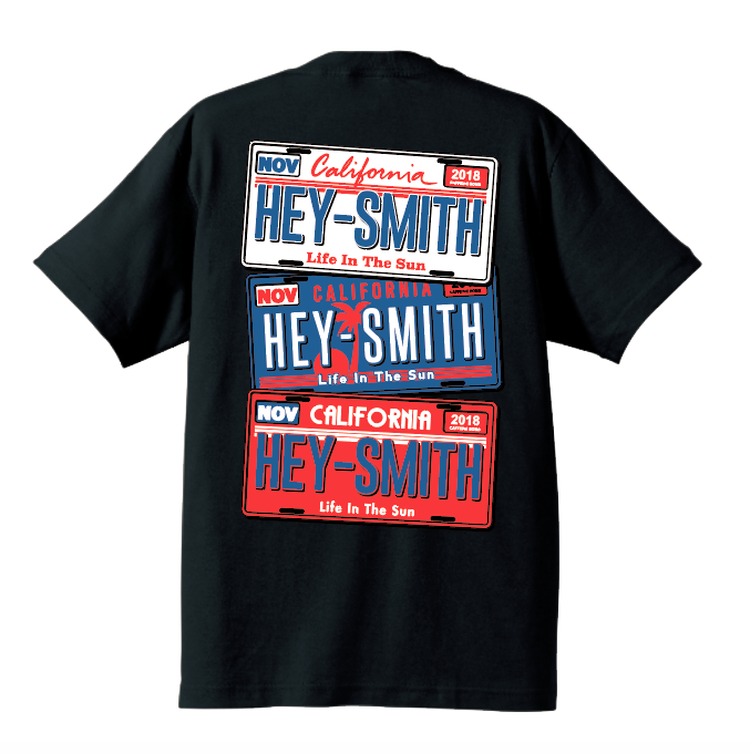 【HEY-SMITH】 LISENCE PLATE Tシャツ