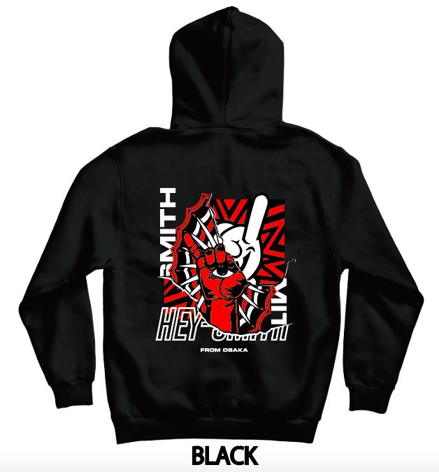【HEY-SMITH】 D zip-up hoodie
