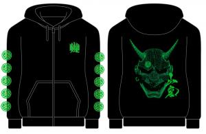 【山嵐】般若 zip-up hoodie