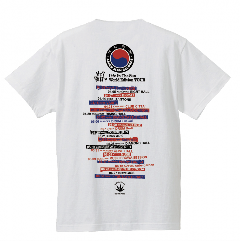 【HEY-SMITH】LITS World Edition TOUR Tシャツ