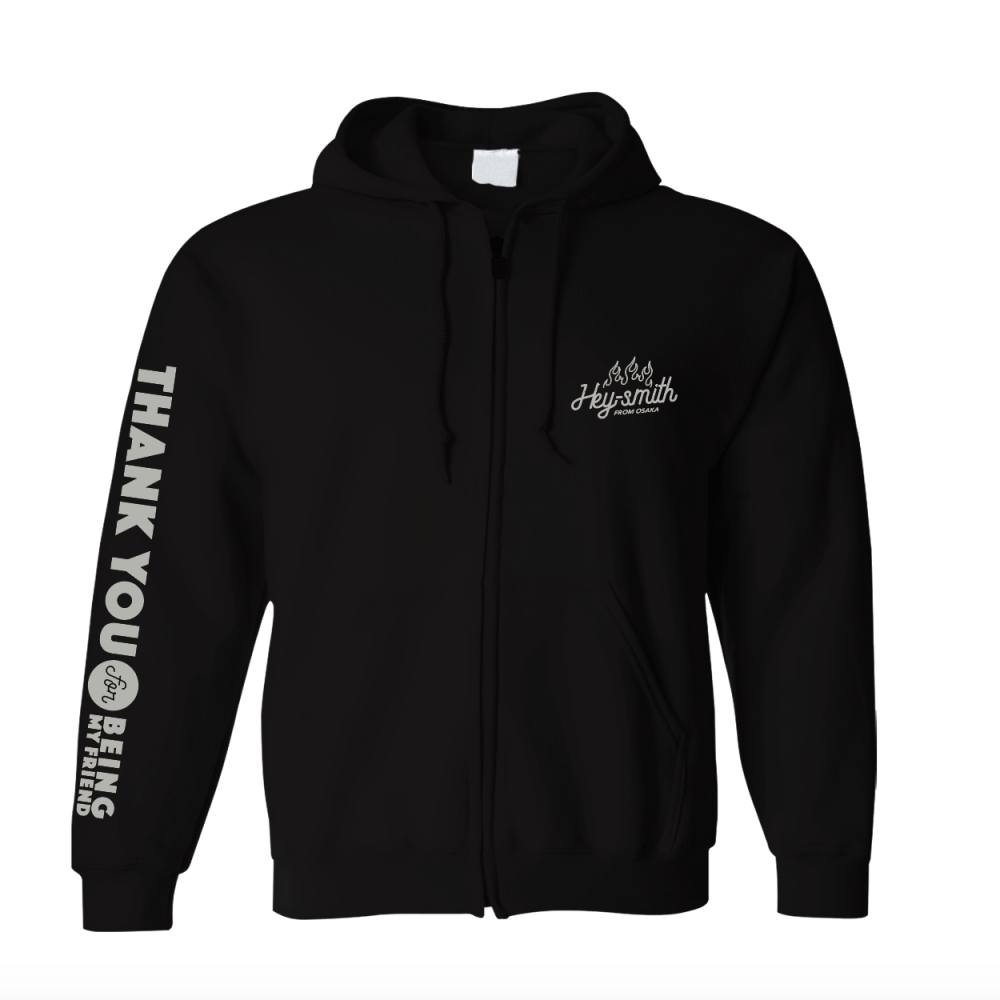 【HEY-SMITH】Thank You For Being My Friend zip-up hoodie ※受注生産