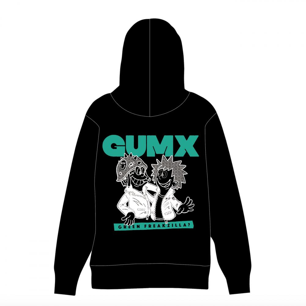 【GUMX】GREEN FREAKZILLA? Pullover hoodie