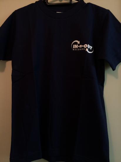 IN-n-OUT Tシャツ バックプリント ネイビー
