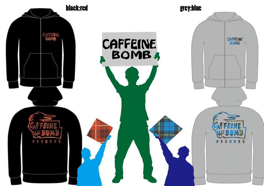CAFFEINE BOMB SKULL HOODIE(Zip-up)