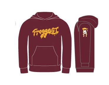 【FROGGEST-POP】pull over hoody