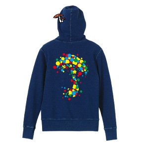 【TOADSTOOL】COLOR DOT Denim hoody
