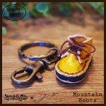 Mountain Boots Key Holder マウンテンブーツキーホルダー(牛染色革)カラー001