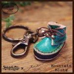 Mountain Boots Key Holder マウンテンブーツキーホルダー(牛染色革)カラー002