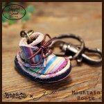 Mountain Boots Key Holder マウンテンブーツキーホルダー(牛染色革)カラー003