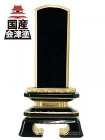 【会津位牌】蓮華付角切春日 上塗 (3.5寸〜6.0寸)