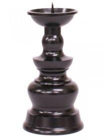 ローソク立て 真鍮製 黒色艶消し(火立)