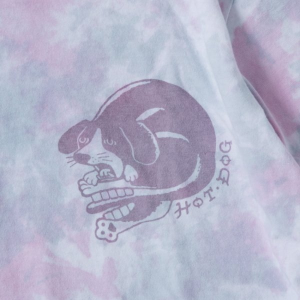 HOT DOG LOGO TIE DYE designed by Jerry UKAI