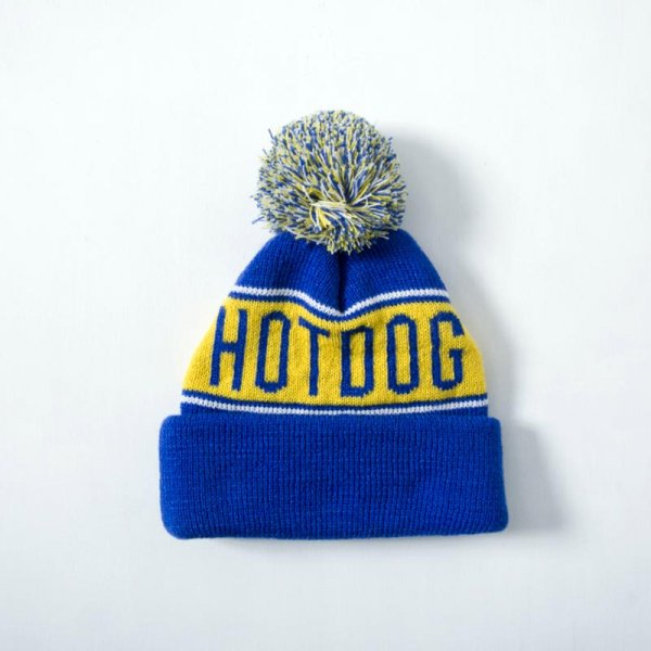HOT DOG POM-POM BEANIE
