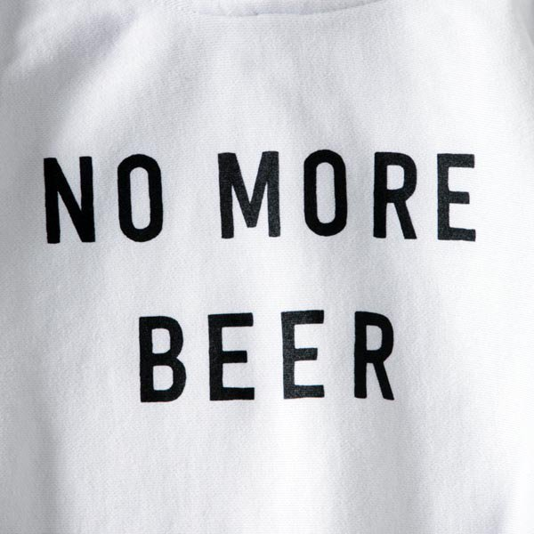 NO MORE BEER HOODIE (12oz) designed by Noriteru Minezaki